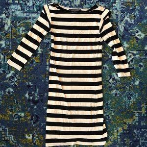 Black and white cotton dress